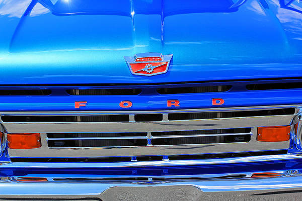 Photograph - Blue Ford by Jennifer Robin