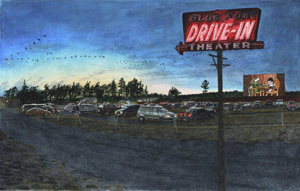 Drive-ins Painting - Blue Fox by Perry Woodfin
