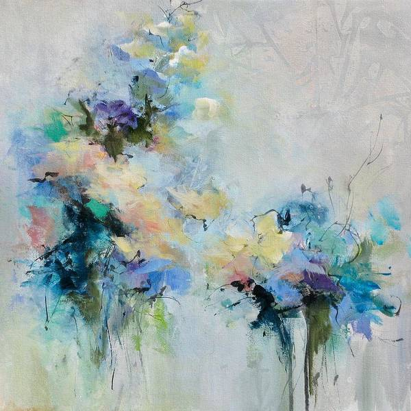 Wall Art - Painting - Blue Fusion by Karen Hale