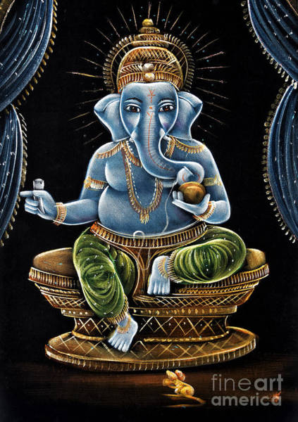 Indian God Painting - Shri Ganesha by Tim Gainey
