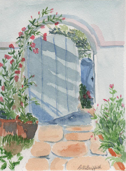 Painting - Blue Gate by Dorothy Karle Griffith