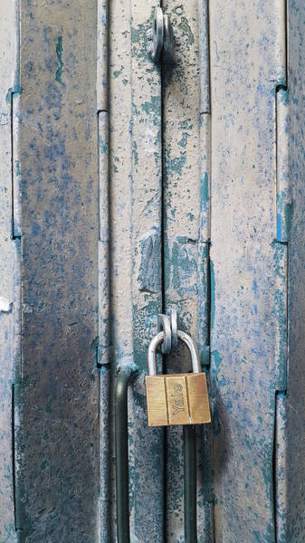 Old Main Wall Art - Photograph - Blue Gate by Kathleen Wong