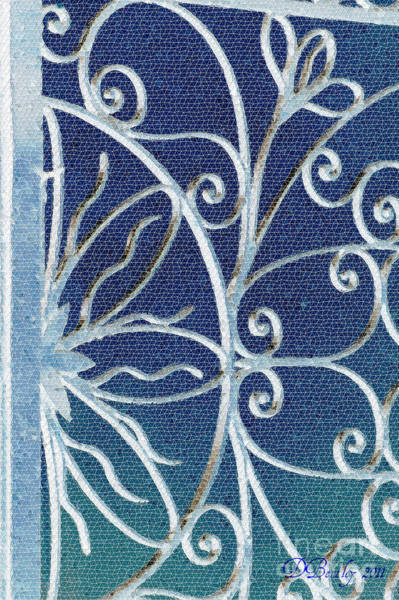 Photograph - Blue Gate Mosaic by Donna Bentley
