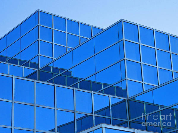 Livonia Photograph - Blue Geometry by Ann Horn