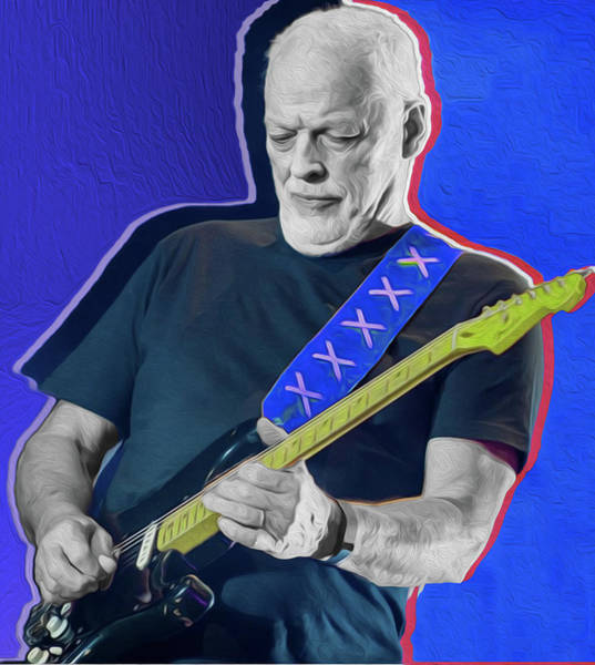 David Gilmour Painting - Blue Gilmour By Nixo by Never Say Never