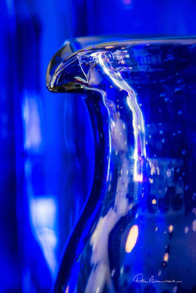 Photograph - Blue Glass Pitcher 1839 by Dan Beauvais