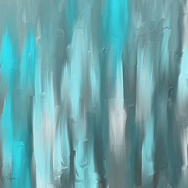 Painting - Blue Gray Art by Lourry Legarde