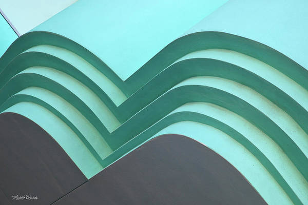 Photograph - Blue Green Abstract Architecture by Michelle Constantine