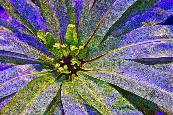 Painting - Blue Green Exotic Plant by Joan Reese