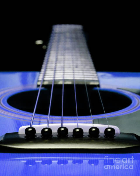 Andee Photograph - Blue Guitar 14 by Andee Design