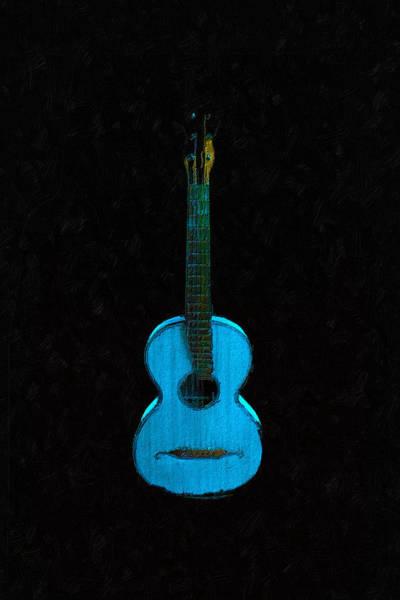Painting - Blue Guitar by Tony Rubino