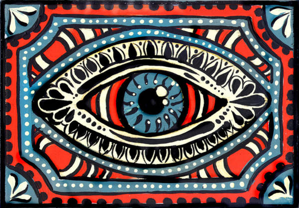 Blue Gypsi Eye Art Print