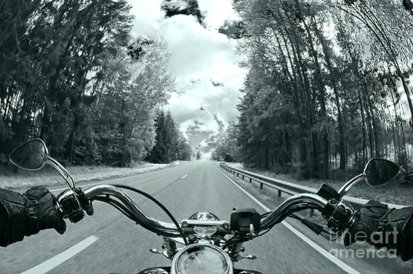 Biker Photograph - Blue Harley by Micah May