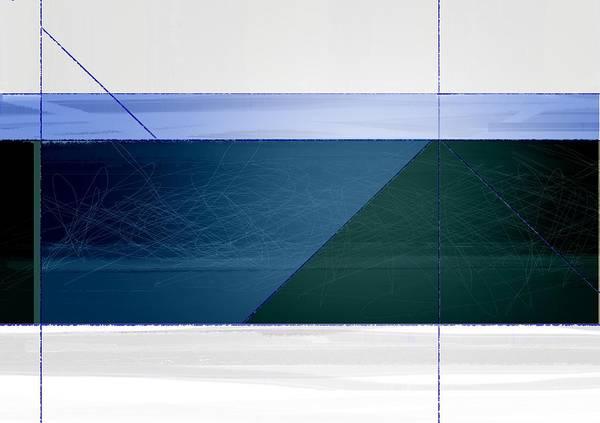 Contemporary Acrylic Painting - Blue Haze by Naxart Studio