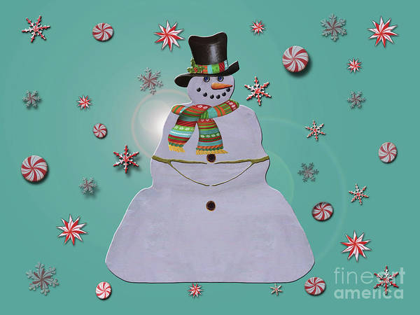 Photograph - Blue Haze Snowman Ornaments by Rockin Docks Deluxephotos