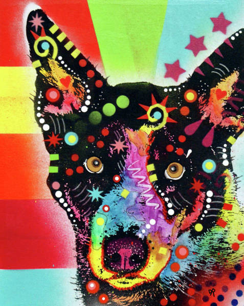 Painting - Blue Healer by Dean Russo Art