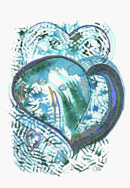 Blue Heart Art Print