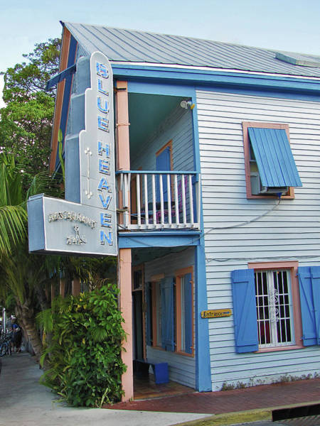 Photograph - Blue Heaven Restaurant - Key West by Bob Slitzan