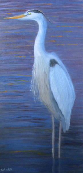 Painting - Blue Heron by Scott W White