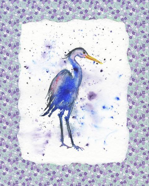 Painting - Blue Heron Watercolor by Irina Sztukowski