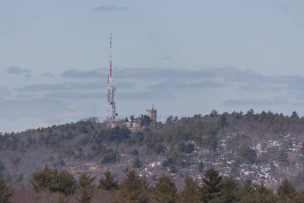 Photograph - Blue Hill Weather Observatory From Buck Hill by Brian MacLean
