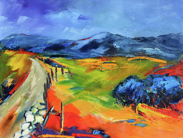 Painting - Blue Hills By Elise Palmigiani by Elise Palmigiani