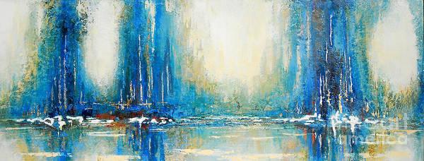 Painting - Blue Home Bay by Kaata Mrachek
