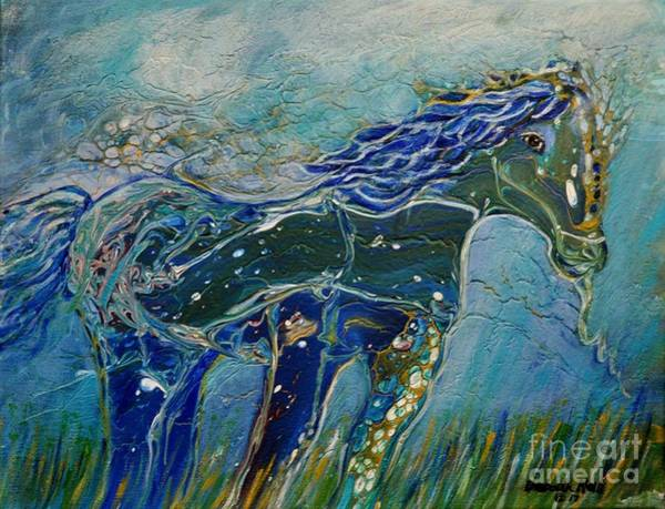 Painting - Blue Horse by Deborah Nell