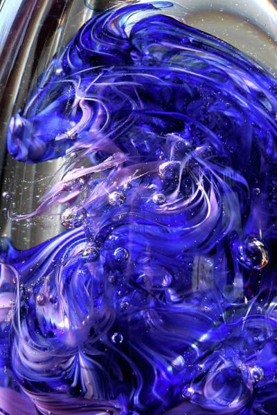 Photograph - Blue Horse Glass Macro by David Patterson