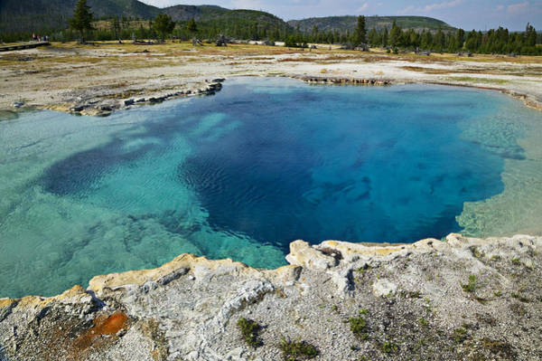Midway Photograph - Blue Hot Springs Yellowstone National Park by Garry Gay