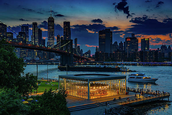 Wall Art - Photograph - Blue Hour At Brooklyn Bridge Park by Chris Lord