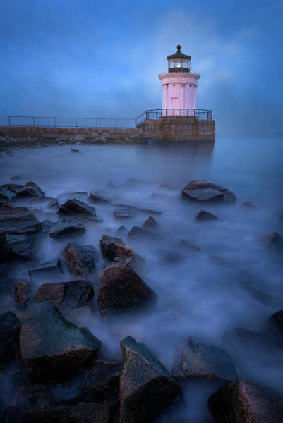 Wall Art - Photograph - Blue Hour At Bug Light by Jeff Bazinet