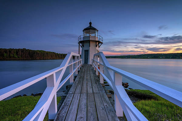 Photograph - Blue Hour At Doubling Point by Rick Berk