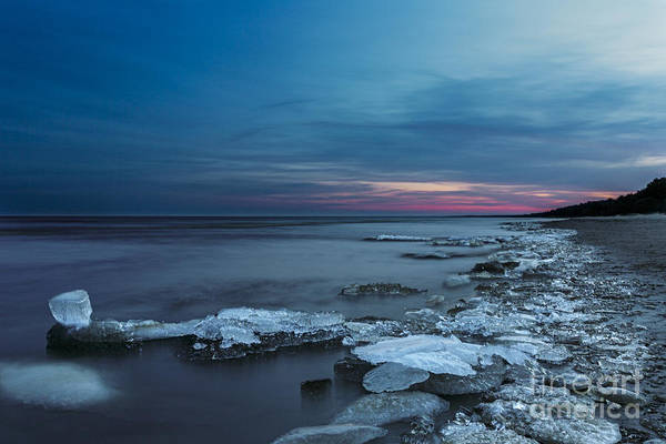 Bluehour Photograph - Blue Hour At Lake Peipus by Mario Mesi
