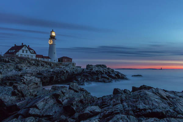 Photograph - Blue Hour At Portland Head Light by Colin Chase