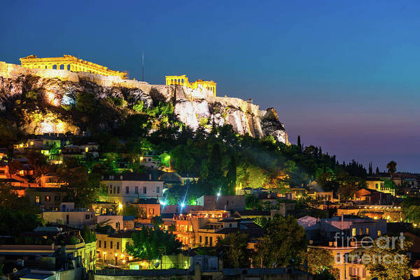 Wall Art - Photograph - Blue Hour At The Acropolis  by DAC Photo