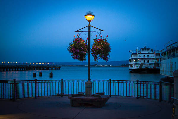 Photograph - Blue Hour At The Waterfront by Bonnie Follett