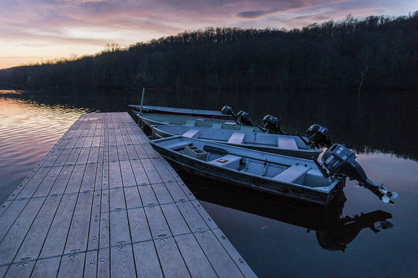 Photograph - Blue Hour Boats by Kristopher Schoenleber