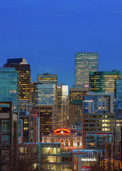 Mile High City Photograph - Blue Hour - Denver, Colorado by Bridget Calip