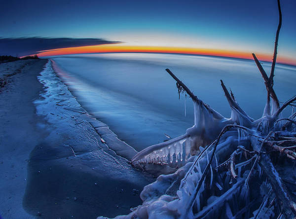 Blue Hour Fisheye Art Print