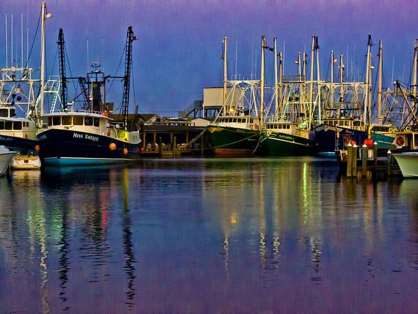 Photograph - Blue Hour Fishing Boats by Louis Dallara