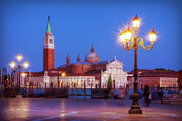 Photograph - Blue Hour In Venice by Barry O Carroll
