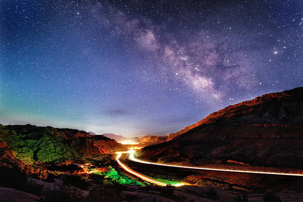Photograph - Blue Hour Milky Way Over Moab by Michael Ash