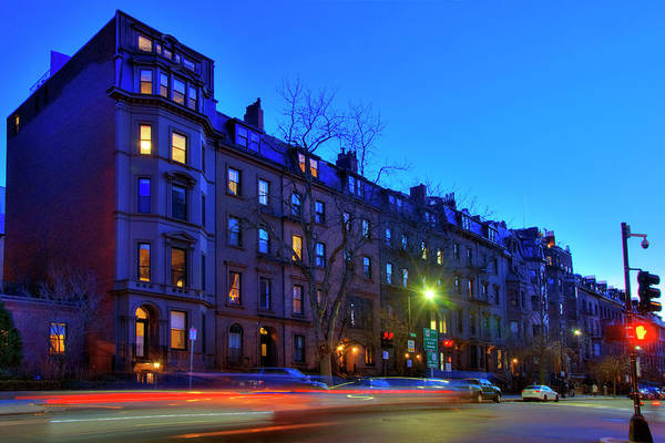 Photograph - Blue Hour Over Boston - Beacon St. by Joann Vitali