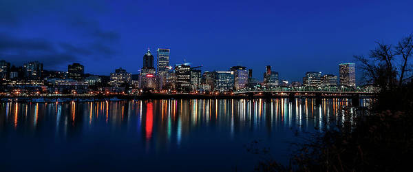 Photograph - Blue Hour Portland by Wes and Dotty Weber
