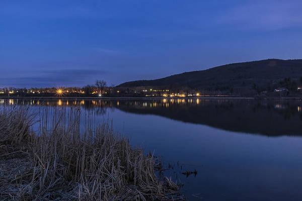 Photograph - Blue Hour Retreat Meadows by Tom Singleton