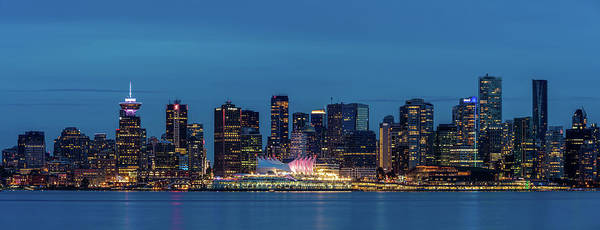 Photograph - Blue Hour Vancouver Panoramic by Pierre Leclerc Photography