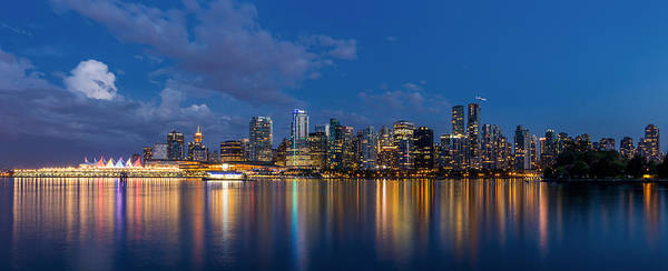 Photograph - Blue Hour Vancouver by Pierre Leclerc Photography