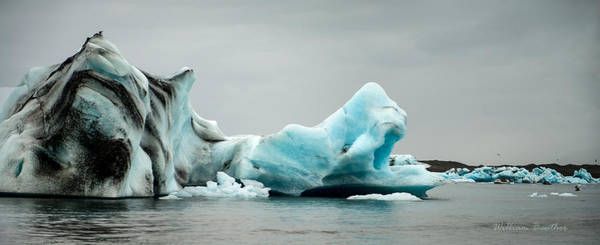 Photograph - Blue Ice Panorama by William Beuther