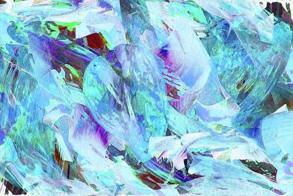 Ice Plant Digital Art - Blue Ice by Stephanie Grant